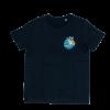 camiseta surfer tarif ilustración kitesurf negra